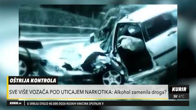 ALKOHOL ZAMENILA DROGA? Za nedelju dana 31 vozač, mlađi od 24 godine, upravljao vozilom pod uticajem narkotika (KURIR TELEVIZIJA)