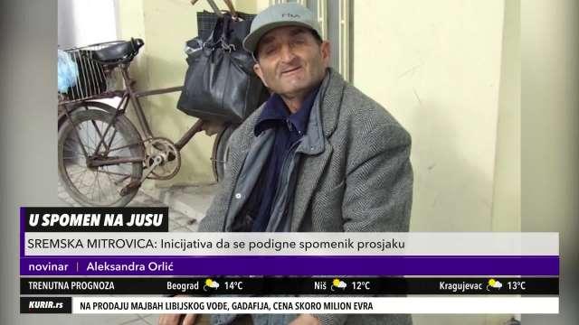 JEDINSTVEN SLUČAJ U SRBIJI: Prosjak Jusa dobija spomenik u Sremskoj Mitrovici (KURIR TELEVIZIJA)