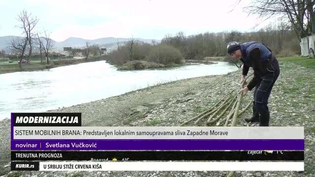 NEMA VIŠE PUNJENJA DŽAKOVA U ZAŠTITI OD POPLAVA: Čačak dobio mobilne brane (KURIR TELEVIZIJA)