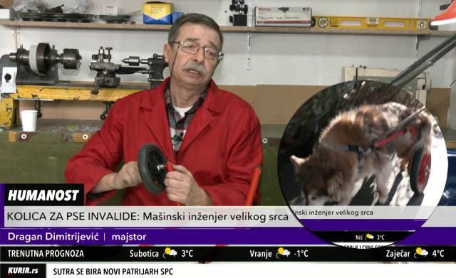 VELIKI HUMANISTA POMAŽE NEMOĆNIM ŽIVOTINJAMA: Dragan pravi invalidska kolica za pse (KURIR TELEVIZIJA)