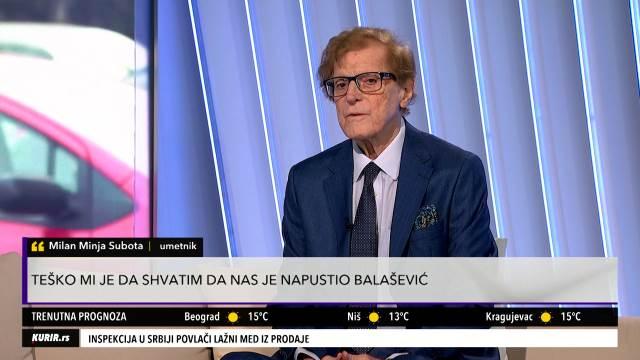 MINJA SUBOTA SE OPROSTIO OD BALAŠEVIĆA: Ostavio je veliko bogatstvo Novom Sadu, Vojvodini i regionu (KURIR TELEVIZIJA)