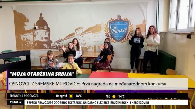 """VERONAUKA IM DONELA POBEDU: Učenici iz Sremske Mitrovice osvojili 1. mesto na konkursu """"Moja otadžbina (KURIR TELEVIZIJA)"""