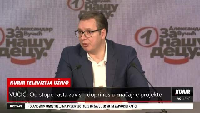PREDSEDNIK VUČIĆ O PLANOVIMA: Do avgusta otvaranje dela KC u Beogradu železnica Beograd - Novi Sad za godinu KURIR TELEVIZIJA