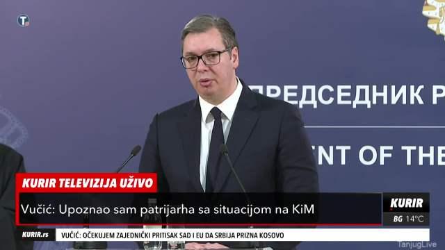 PREDSEDNIK VUČIĆ NAKON SASTANKA SA PATRIJARHOM: Kad država i crkva imaju iste ciljeve, Srbija je 1. U EVROPI (KURIR TELEVIZIJA)
