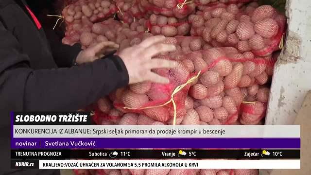 JEDEMO HRVATSKI I ALBANSKI KROMPIR, A NAŠ BACAMO! Srpski poljoprivrednici očajni, mole državu za pomoć (KURIR TELEVIZIJA)