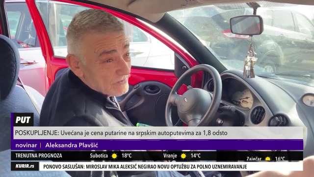 ANKETA: Šta građani kažu o poskupljenju putarine (KURIR TELEVIZIJA)