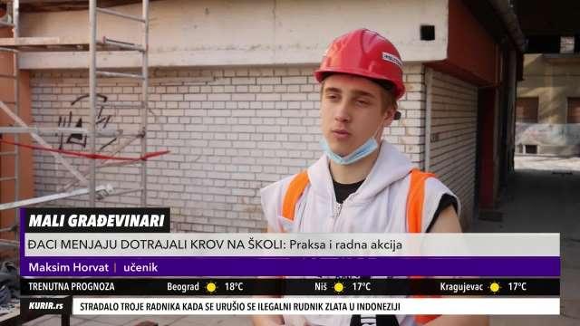 DEVOJČICA, A HOĆE U ZIDARE: Antonija i 15 drugara svakog dana vredno rade na popavci krova škole (KURIR TELEVIZIJA)