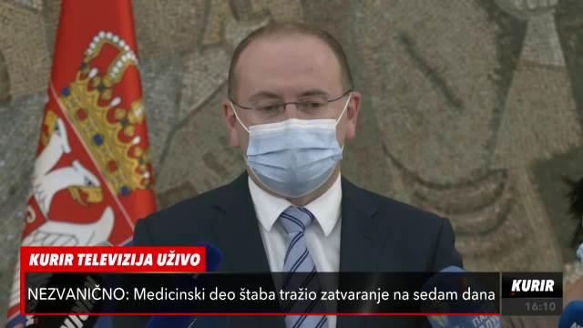DR GOJKOVIĆ NAKON SEDNICE KRIZNOG: Najvažnije je da uspešno sprovedemo vakcinaciju (KURIR TELEVIZIJA)