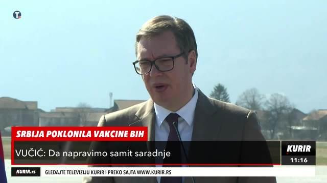 PREDSEDNIK VUČIĆ U SARAJEVU POSLAO SNAŽNU PORUKU: Koju god vakcinu da tražite, mi ćemo vam dati! (KURIR TELEVIZIJA)