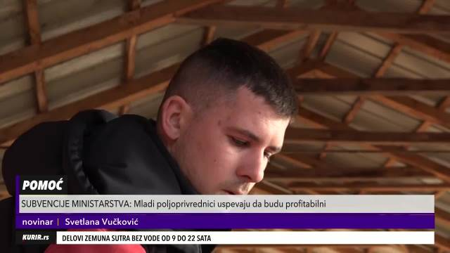 ČAČANSKI PONOS: Nemanja je mladi poljoprivrednik, u njegovom domaćinstvu je sve pod konac (KURIR TELEVIZIJA)