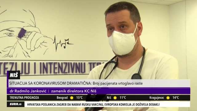 SITUACIJA SA KORONOM SVE DRAMATIČNIJA NA JUGU SRBIJE! Doktor Radmilo: Bolnice se PUNE, sistem UŽASNO OPTEREĆEN (KURIR TELEVIZIJA)
