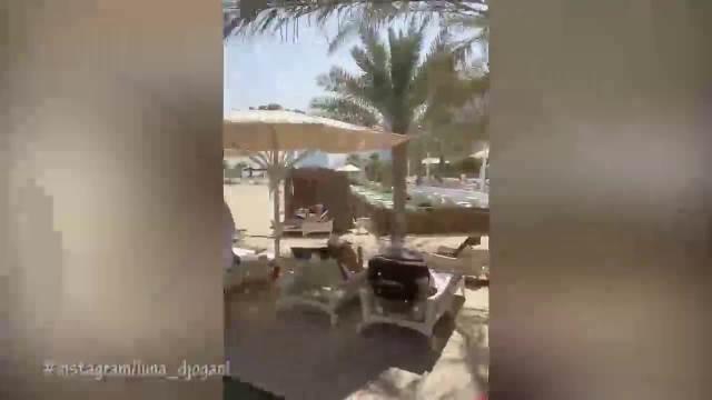 TRUDNA LUNA PIJE PIVO I BEBI U STOMAKU PUŠTA ŠABANA! Marko je odveo u TOPLI DUBAI, opustili se na plaži uz NARODNJAKE! (VIDEO)