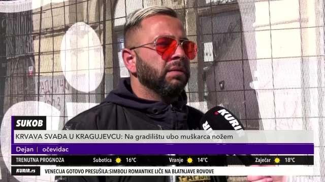 IZAŠAO JE I VIKAO UBOD; UBOD: Kragujevčanin izneo uznemirujuće detalje krvave svađe u Kragujevcu (KURIR TELEVIZIJA)