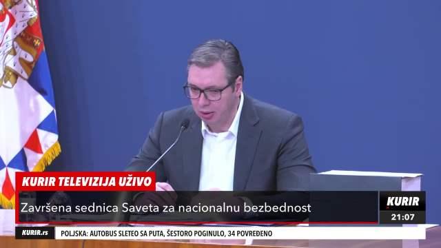 VUČIĆ OTKRIO DETALJE SEDNICE SAVETA BEZBEDNOSTI: Govorili smo o pet gorućih problema Srbije (KURIR TELEVIZIJA)
