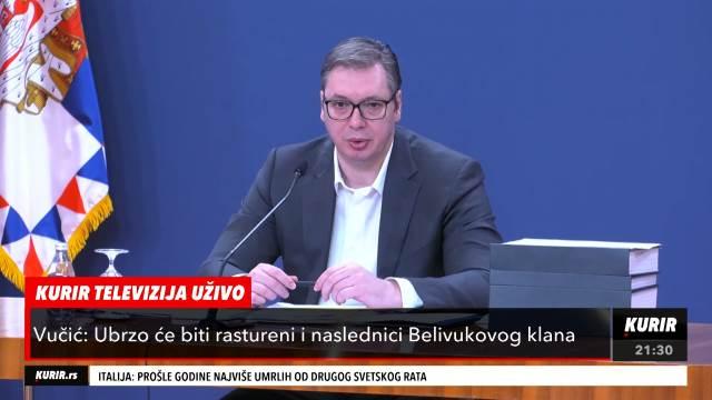 KRIMINALNIM GRUPAMA ODBROJANI DANI NA SLOBODI! Vučić najavio obračun protiv klana Velje Nevolje (KURIR TELEVIZIJA)