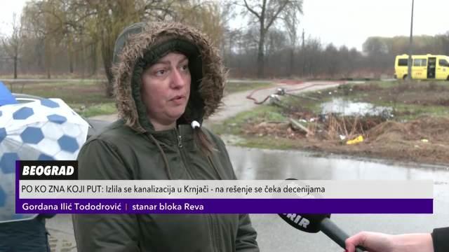 Izlila se kanalizacija u Krnjači: Građani se bore sa fekalnom masom