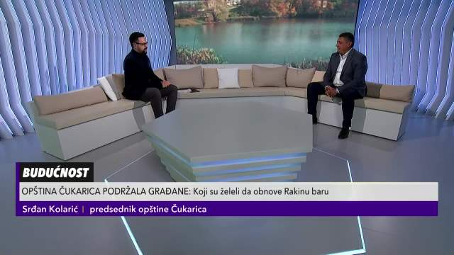Srđan Kolarić predsednik opštine Čukarica o radovima na Rakinoj bari