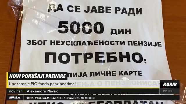 Penzioner iz Sremske Mitrovice stao na put prevarantima