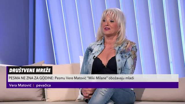 Vera Matović o hitu Miki Milane