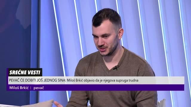 Miloš Brkić u Pulsu Srbije otkrio da će postati tata
