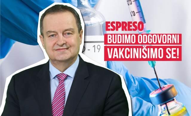 VAKCINIŠIMO SE BUDIMO ODGOVORNI: Ivica Dačić