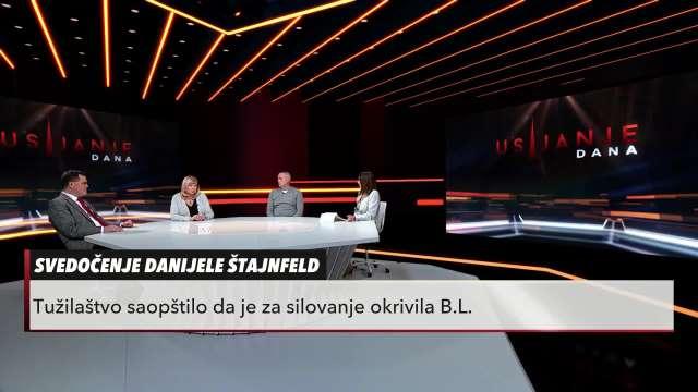 O slučaju Branislav Lečić - Danijela Štajnfeld govore Stanojević, Jurić i Tintor