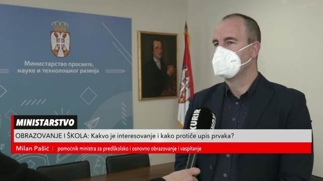 Milan Pašić o upisu dece u prvi razred preko eUprave
