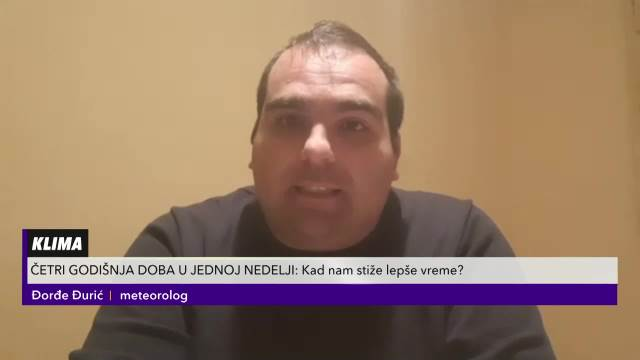 Meteorolog Đorđe Đurić u Pulsu Srbije otkrio kada nam stiže lepo vreme