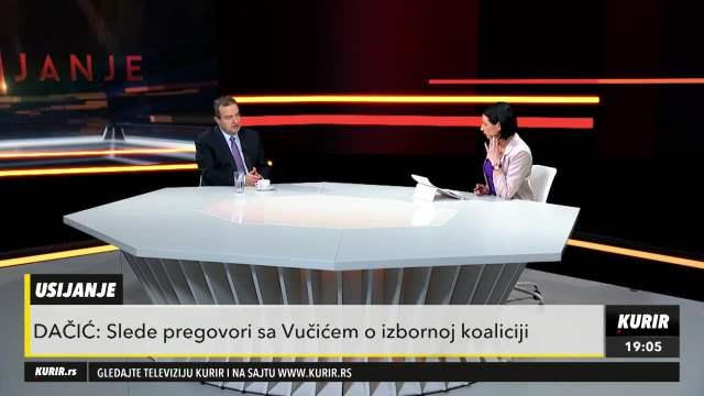 Ivica Dačić o pregovorima sa Vučićem o izbornoj koaliciji