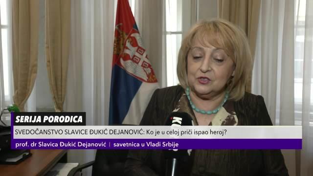 Reakcije Slavice Đukić Dejanović na glumu Katarine Žutić u seriji Porodica