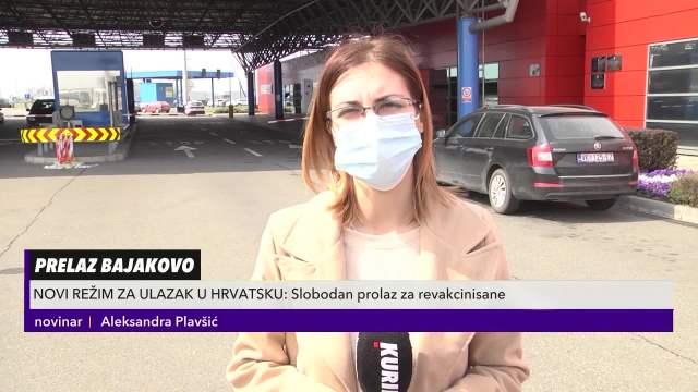 Kurir televizija na prelazu Bajakovo