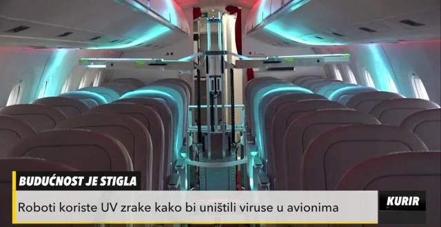 Švajcarci kreirali robota koji ubija koronavirus u avionima