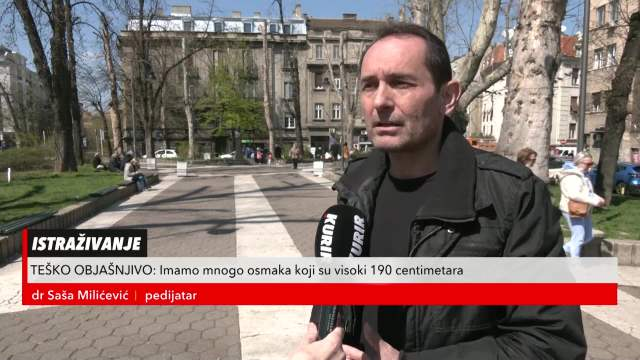 Doktor Saša Milićević: Uočen prekomeran rast dece