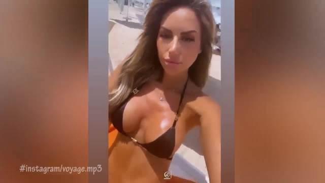 VOJAŽ ODUŠEVLJEN IVOM: Grgurićeva đuskala na plaži u Dubaiju uz reperovu pesmu, ODMAH završila kod njega na INSTAGRAMU!