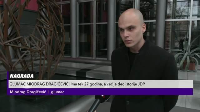 Miodrag Dragičević: Nagrada koju sam dobio donosi veliku odgovornost