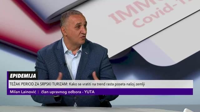 MILAN LAINOVIĆ IZ YUTE U PULSU SRBIJE: Kakav će turizam biti ove godine?