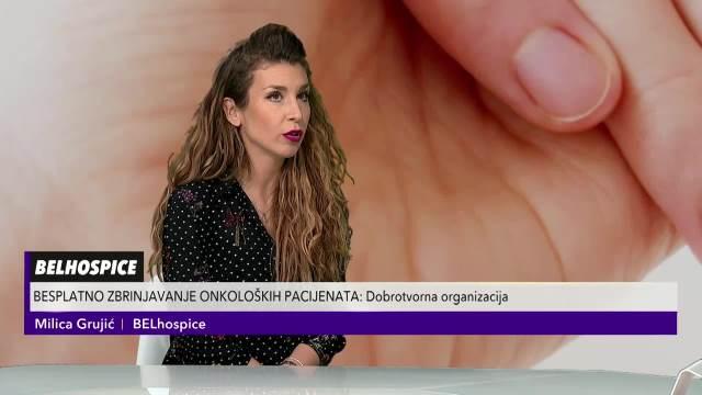 Milica Grujić ispred organizacije Belhospice