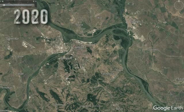 SNIMAK IZ SVEMIRA! Pogledajte kako se Beograd promenio za samo 35 godina