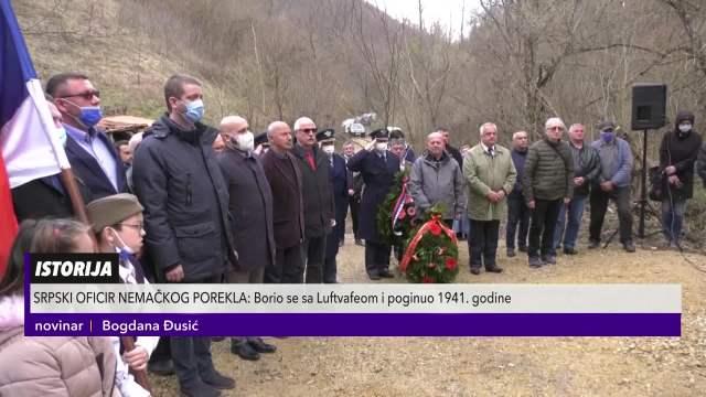 Kragujevčani podigli spomen obeležje Oto Sepu, pilotu nemačkog porekla koji je branio jugoslovensko nebo