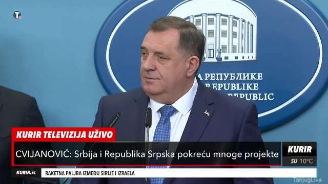 Dodik posle sastanka sa Vučićem, Dačićem i Brnabić: Republika Srpska nikada nije imala važniju posetu