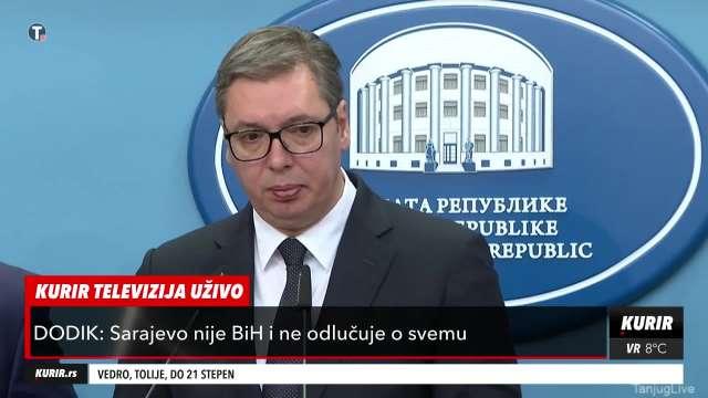 Vučićev komentar na ratnohuškačke izjave Izetbegovića