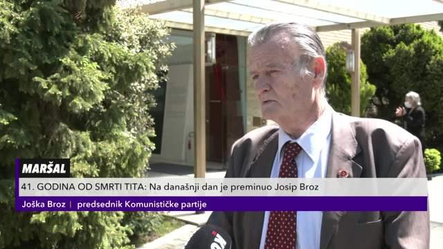 JOŠKA BROZ NA DAN TITOVE SMRTI ODSEČNO: Lažu da je on ZADUŽIO Jugoslaviju, žele da ga OCRNE!