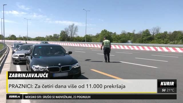 Na srpskim putevima za četiri dana registrovano 11.000 prekršaja