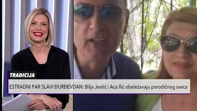ESTRADNI PAR SLAVI ĐURĐEVDAN! Bilja Jevtić i Aca Ilić obeležavaju porodičnog sveca