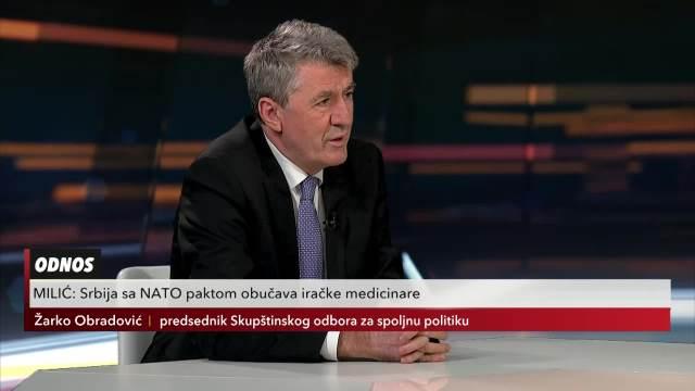 Žarko Obradović u Usijanju dana: Iako nas je NATO bombardovao, imamo dobar odnos sa njima