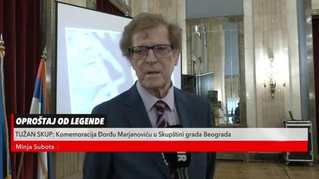 Oproštaj Minje Subote od Đorđa Marjanovića