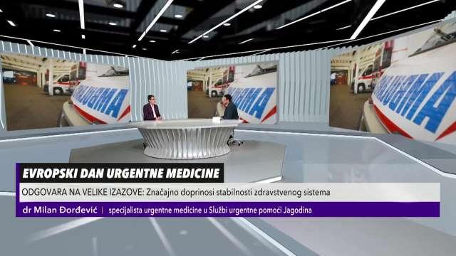 U SUSRET EVROPSKOM DANU URGENTNE MEDICINE: Dr Đorđević: U Srbiji je to još uvek mlada grana, nismo dostigli nivo koji smo trebali
