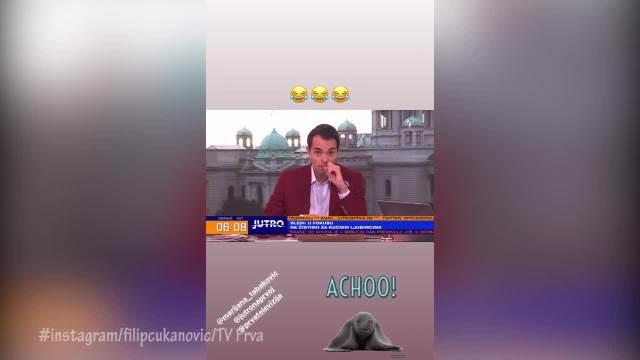 VODITELJ FILIP ČUKANOVIĆ DOŽIVEO PEH U PROGRAMU UŽIVO! Koleginica mu se smejala, on poručio: Izvinjavam se! (VIDEO)