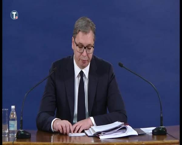 Vučić: Spremni na razgovor o kompromisnu, nikada o poniženju Srbije