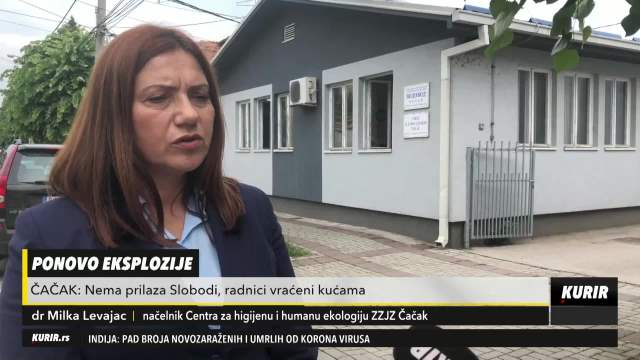 Dr Marija Levajac o vazduhu u Čačku nakon eksplozije